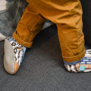 Puhatalpú kiscipő az első lépésekhez - Bézs azték