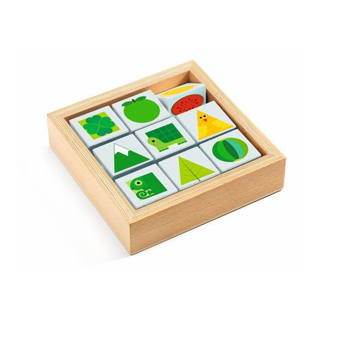 Gyerekjáték - Forgatható kockakirakó - Tribasic