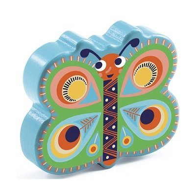 Játékhangszer - pillangó csörgő (maracas)