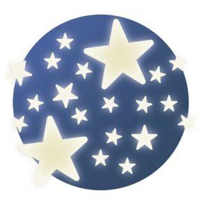 Fluoreszkáló falmatrica – csillagok