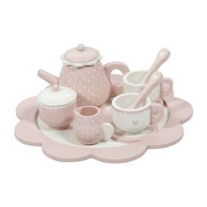 Little Dutch – Fa teáskészlet – rózsaszín