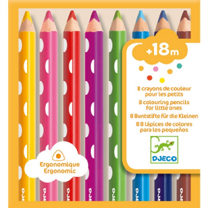 Háromszög alakú, vastag színes ceruza- 8 db