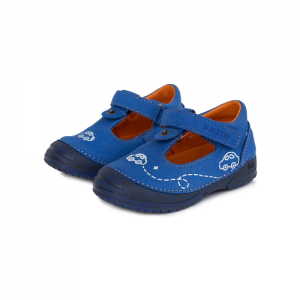 D.D.Step – Nyitott gyerekcipő – Autós fiú zárt szandál – kék