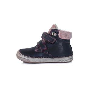 D.D.Step – Vízlepergető téli gyerekcipő – bundás, magasszárú cipő – kék-rózsaszín – lány