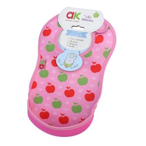 Extra nedvszívó előke ételgyűjtő zsebbel - rózsaszín alma