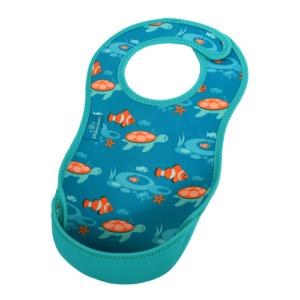 Extra nedvszívó előke ételgyűjtő zsebbel – bohóchal