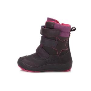 D.D.Step – Vízlepergető téli gyerekcipő – bundás, tépőzáras csizma – lila -lány