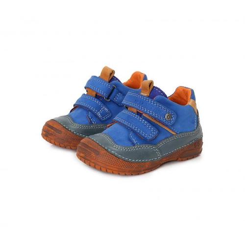 D.D.Step - Vízlepergető átmeneti gyerekcipő - zárt cipő - kék-narancs - fiú