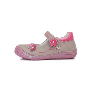 D.D.Step – Nyitott gyerekcipő – zárt szandál – szürke-pink – lány
