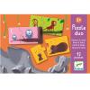 Párosító puzzle - állatok és kicsinyeik - 12 db-os