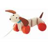 Fa játék - húzható kutya