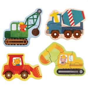 Petit Collage puzzle – kezdő kirakó – munkagépek