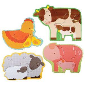 Petit Collage puzzle – kezdő kirakó – farm