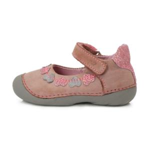 D.D.Step – Nyitott gyerekcipő – Szíves, szürke-rózsaszín lány zárt szandál