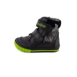 D.D.Step – Vízlepergető téli gyerekcipő – bundás, tépőzáras csizma – fekete – denevér – fiú