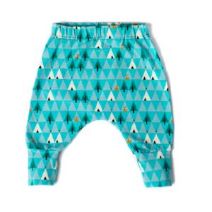 Baba nadrág – GOTS minősített organikus pamut – kék róka