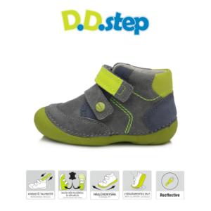 D.D.Step – Vízlepergető – Átmeneti gyerekcipő – szürke zöld- kisfiú cipő