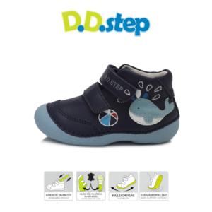 D.D.Step – Vízlepergető – Átmeneti gyerekcipő – kék bálna – kisfiú cipő