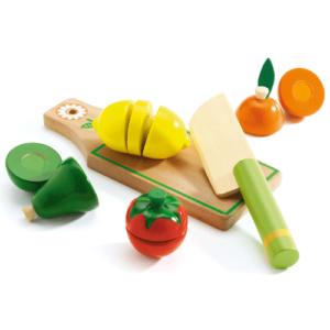 Szeletelhető fa gyümölcsök, zöldségek (Djeco, 6526)