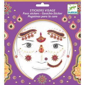 Arc dekoráló matrica – India hercegnő (Djeco, 9213)