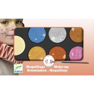 Arcfesték készlet – Fémes színek (Djeco, 9232)