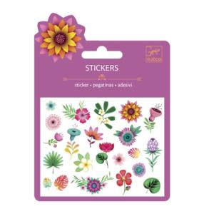 Mini matrica szett – Trópusi virágok (Djeco, 9780)