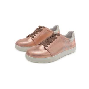 Stitch & Walk- Pezsgő színű – unikornisos női bőr cipő