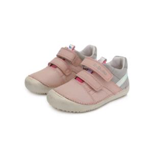 D.D.Step – Átmeneti gyerekcipő – bőr bokacipő – szürke – rózsaszín  – kislány