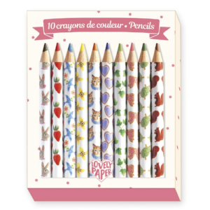 Mini színes ceruza, 10 szín