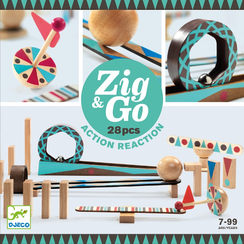Építőjáték - Zig&Go 28 db (Djeco 5640)