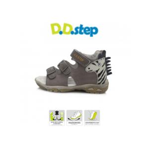 D.D.Step – Nyitott gyerekcipő – bőr szandál – sötétszürke zebrás -kisfiú