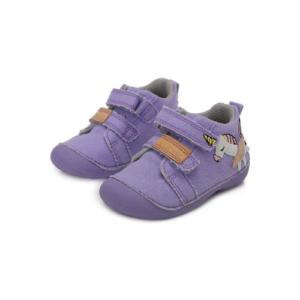 D.D.Step – Átmeneti vászon gyerekcipő – Lila unikornis – kislány első lépés cipő