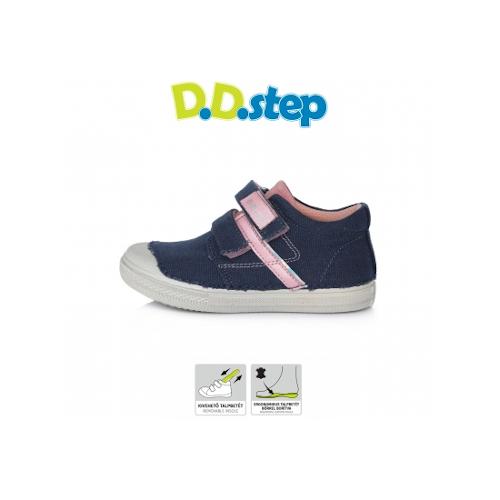 D.D.Step - Átmeneti gyerekcipő - sötétkék vászon - kisfiú bokacipő