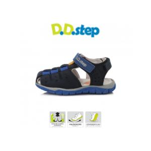 D.D.Step – Nyitott gyerekcipő – zárt orrú szandál – kék, fekete -fiú
