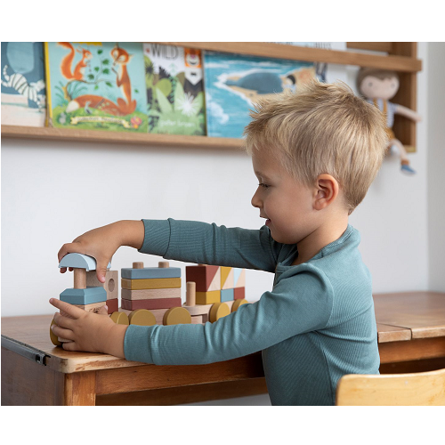 Little Dutch - Fa játékvonat építőelemekkel - Pure&Nature