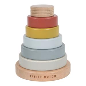 Little Dutch – Fa montessori toronyépítő – Pure&Nature