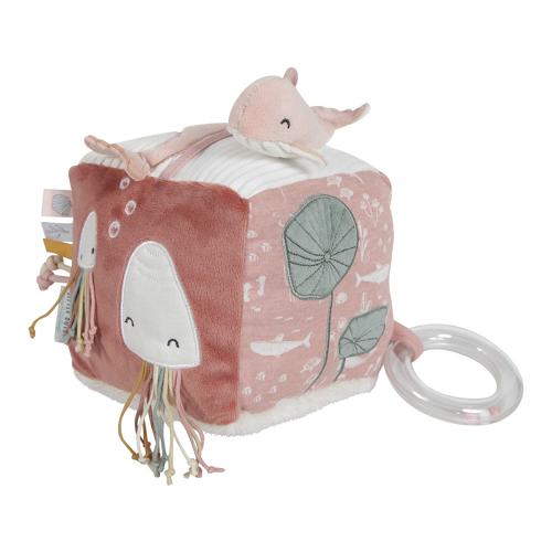 Little Dutch - Készségfejlesztő kocka - rózsaszín