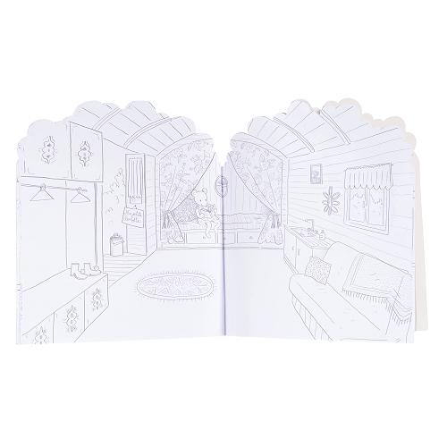 Moulin Roty - Matricázó és színező album - Az én házam