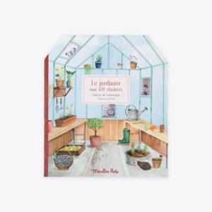 Moulin Roty – Matricázó és színező album – Kiskertem