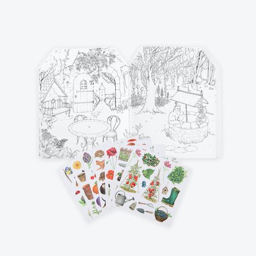 Moulin Roty - Matricázó és színező album - Kiskertem