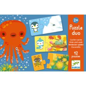 Párosító puzzle – bújócska – 12 db-os