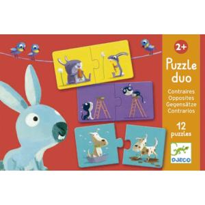 Párosító puzzle – ellentétek – 12 db-os