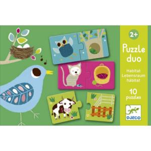 Párosító puzzle – élőhely – 12 db-os