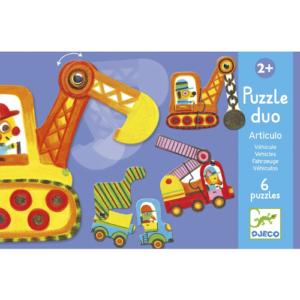Párosító puzzle – munkagépek