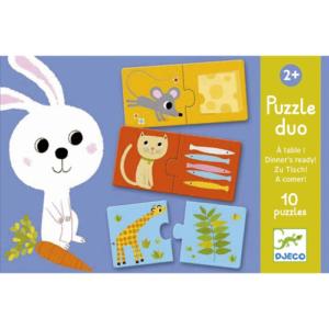 Párosító puzzle – Ki mit szeret? – 12 db-os
