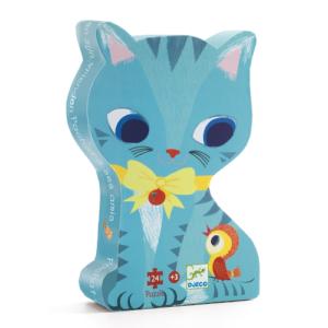 Formadobozos puzzle – cica – 24 db-os