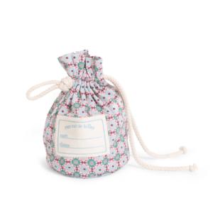 Moulin Roty – Üveggolyó szett vászon zsákban – virágos