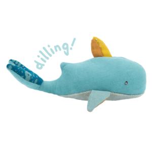 Moulin Roty – Plüss csörgő – bálna