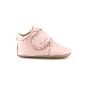 FRODDO – Puhatalpú, bőr gyerekcipő az első lépésekhez – rózsaszín bokacipő