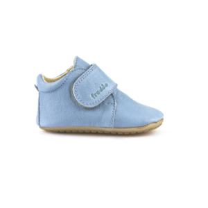 FRODDO – Puhatalpú, bőr gyerekcipő az első lépésekhez – világoskék bokacipő